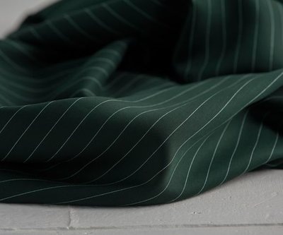 pin stripe deep green - viscose (tencel)