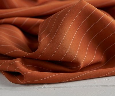 pin stripe spice - viscose (tencel)