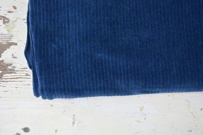 jeans blauw met brede rib (katoen) - nicky velours, corduroy