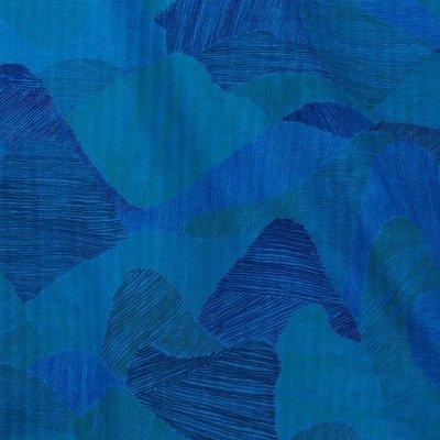 Mountain views blue - double gauze