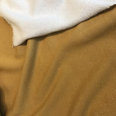 sweater met lurex oker  - sweater