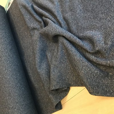 sweater met lurex navy - sweater