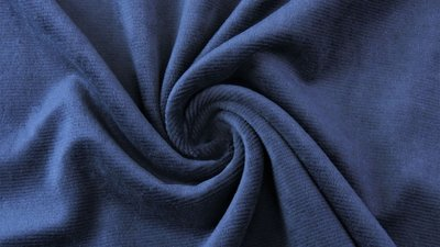 jersey washed cotton cord small rib navy - nicky velours, corduroy