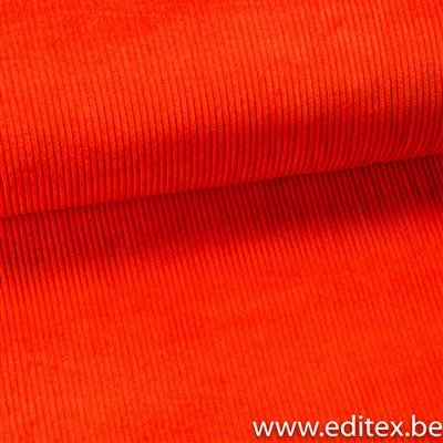 anna skirt (oranje) -brede ribfluweel