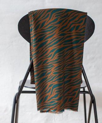 zebra teal - viscose