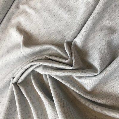 grijs chine stip mint - katoen