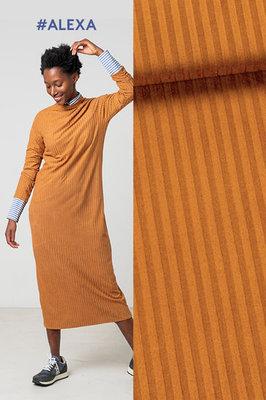 Alexa / Benita - rib tricot stof