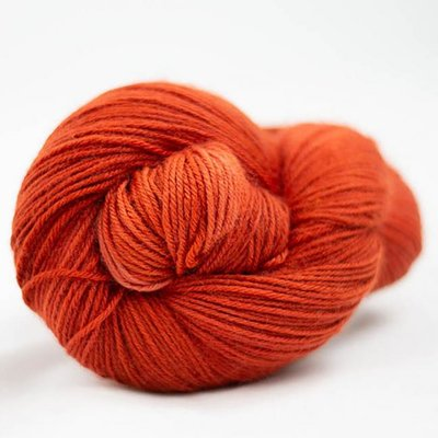 lazy lion sock yarn burnt orange 0013