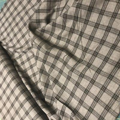 Flannel ruit grijs - katoen/viscose