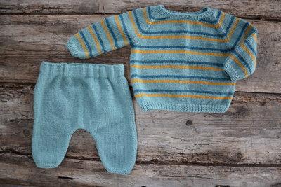 Breipatroontje,Roxy setje voor baby's