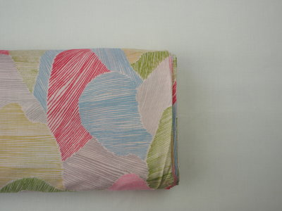 Mountain views pink and yellow - double gauze