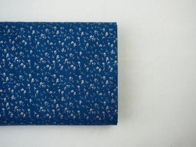 Harbe blue - cotton satin