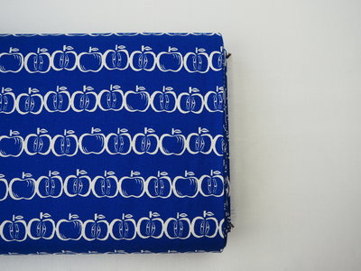Canvas appel blauw