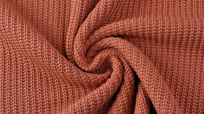 Cotton knitted cable brique - jersey