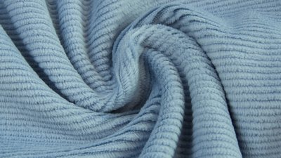 jersey washed cotton cord small rib light denim - nicky velours, corduroy