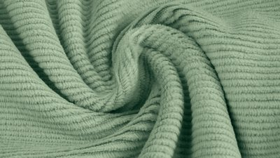 jersey washed cotton cord small rib sage - nicky velours, corduroy
