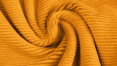 jersey washed cotton cord small rib yellow - nicky velours, corduroy
