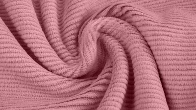 jersey washed cotton cord small rib old pink - nicky velours, corduroy