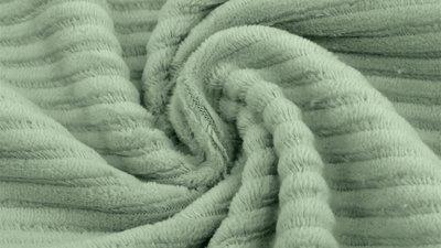 jersey washed cotton cord large rib sage - nicky velours, corduroy