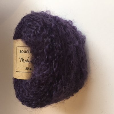 Adèles bouclé dark purple - indigo