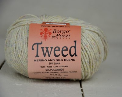 Borgo de pazzi Tweed gebroken wit 100