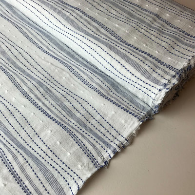 white blue embroidery - cotton embroidery