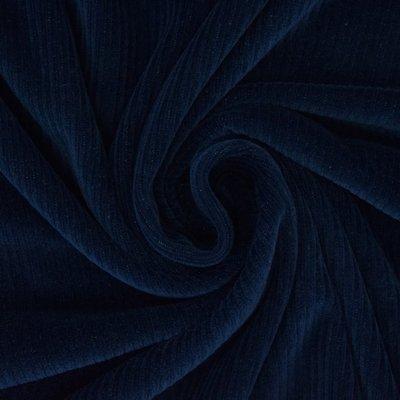 marineblauw met brede rib (biokatoen) - nicky velours