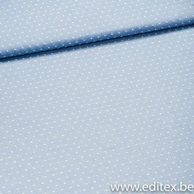 plumetis blauw / katoen