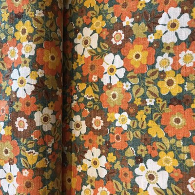 flower orange - cotton