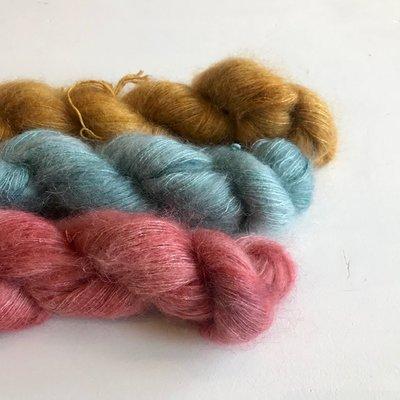 Breipakketje sjaal met streepjes pakket 3