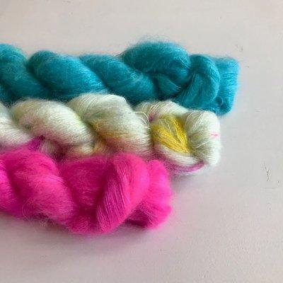 Breipakketje sjaal met streepjes pakket 4