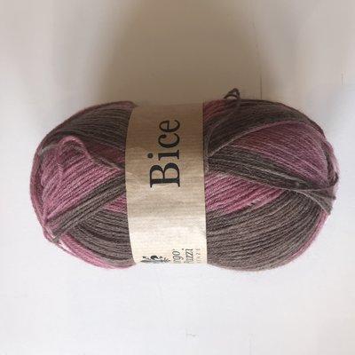 BICE kousenwol met verloop roos bruin