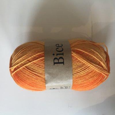 BICE kousenwol met verloop oranje