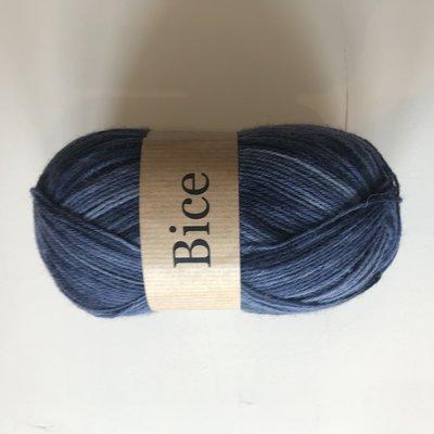 BICE kousenwol met verloop grijs / zwart