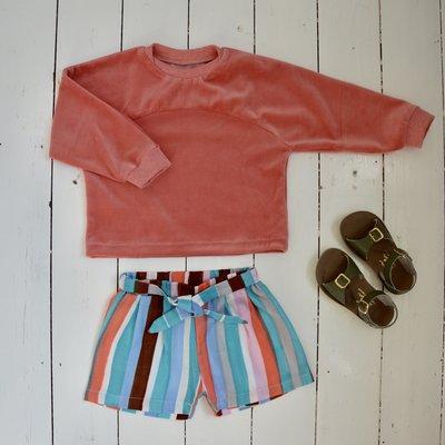 Clara short en terry sweater van WISJ