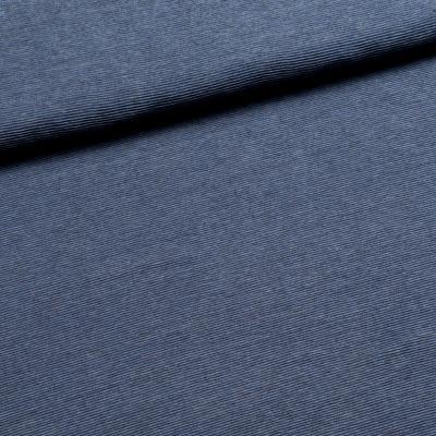Rufus Neopreen jeans blauw - sweater met relief