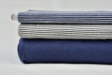 Stripe ecru/dark blue - jersey