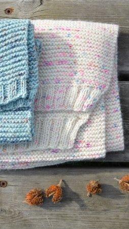 Breipakketje handgeverfde sjaal ecru large