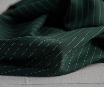 pin stripe deep green - viscose (tencel)