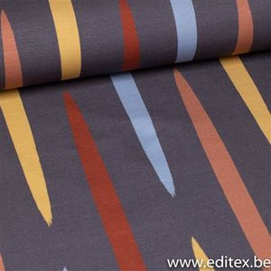 multi stripes - french terry