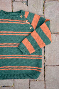 Breipatroontje trui met fantasiestreepjes NL