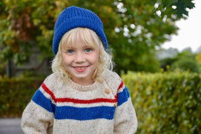 breipatroontje, trui met gekleurde strepen