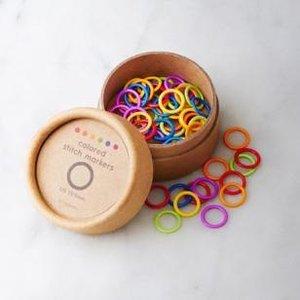 colored ring stitch marker, small