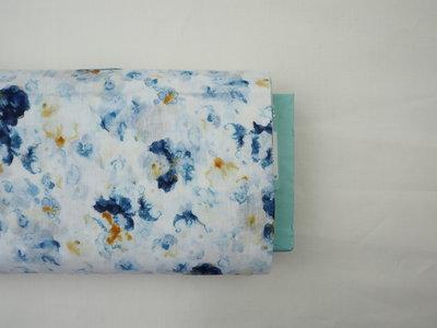 aquarelle blauw katoen
