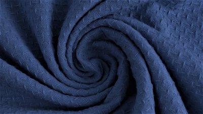 Cotton jacquard jeans - katoen