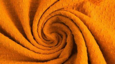 Cotton jacquard geel - katoen
