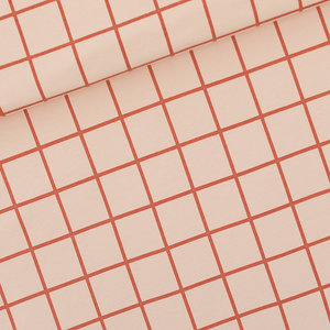 French Terry Grid - eveningpink