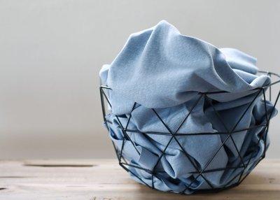 Cotton Flamé Interlock faded blue- sweater