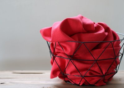 Cotton Flamé Interlock lipstick- sweater