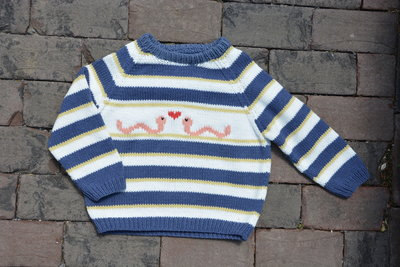 Breipatroontje Pim sweater wormpjes NL